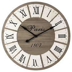 Horloge en bois D 92 cm ST GERMAIN | Maisons du Monde