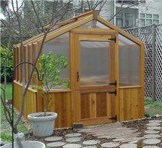 cedar greenhouse with dutch door| 12' cedar built free standing located in houston texas
