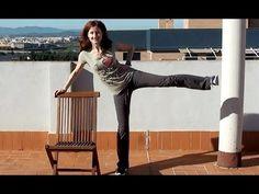 Rutina con silla para tonificar y fortalecer y adelgazar toda la zona de glúteos, caderas y piernas, también mejora la circulación de las piernas Leg toning ...