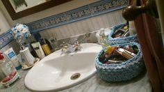 Cestitos de crochet para mi cuarto de baño