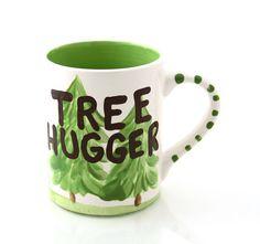 Tree Hugger Mug  CIJ on sale by LennyMud on Etsy, $8.00