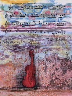 """Daily Painters Abstract Gallery: Mixed Media Abstract Painting """"I See The Sounds"""" by Santa Fe Contemporary Artist Sandra Duran Wilson"""