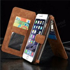 PU Leather Case Flip Wallet Card Bag Case Phone Cover For Apple iPhone 6 6s Plus Sale - Banggood Mobile