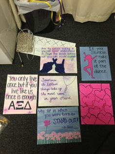 Alpha Xi Delta posters to decorate the Little Little Littles' rooms during Big/Little Week