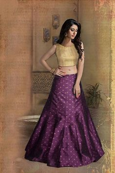 d04fd387fa297a Image result for purple ghagra Bridal Lehenga