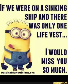 Minions are cute, Adorable and Funny ! Just like Minions, There memes are also extremely hilarious . So here are some very funny and cool minions memes, they will sure leave you laughing for a whi… Funny Minion Pictures, Funny Minion Memes, Minions Quotes, Funny Humor, Hilarious Pictures, Minion Humor, Minions Minions, Hilarious Jokes, Funny Videos