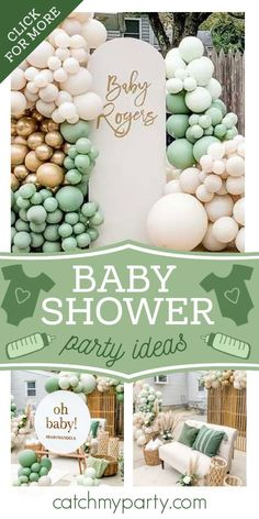 Dont miss this impressive drive-by baby shower! The balloon decorations are fabulous!  See more party ideas and share yours at CatchMyParty.com #catchmyparty #partyideas #babyshower #drivebybabyshower