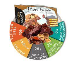 Información nutricional barritas energéticas naturales de dátil con nueces cubiertas de chocolate.