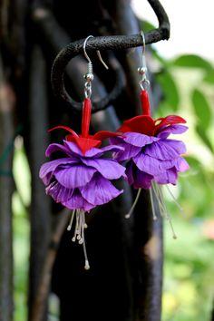Fiore fucsia gioielli orecchini fucsia di Jewellrylimanska su Etsy