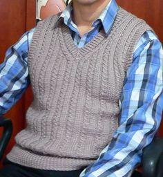 Мужской жилет. Обсуждение на LiveInternet - Российский Сервис Онлайн-Дневников Vest Pattern, Knit Vest, Baby Knitting Patterns, Stylish Men, Men Sweater, Pullover, Mens Fashion, Sweaters, Vest Coat