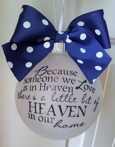 Because Someone We Love Is In Heaven Personalized Custom Christmas Ornament