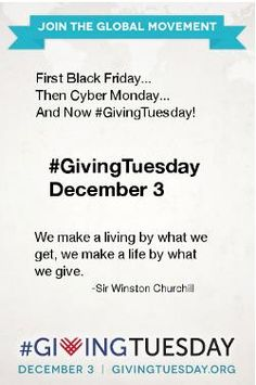 Giving Tuesday: A National Day Of Giving