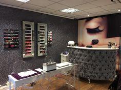 Flawless beauty and permanent makeup West Yorkshire Uk Home Nail Salon, Nail Salon Design, Nail Salon Decor, Hair Salon Interior, Spa Interior, Salon Interior Design, Beauty Bar Salon, Hair And Beauty Salon, Makeup Studio Decor