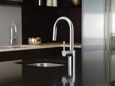 Align Chrome one-handle high arc pulldown kitchen faucet -- 7565 -- Moen