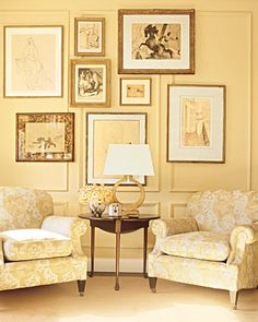 decorating with gold color: via Martha Stewart