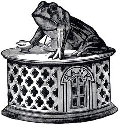 Cast Iron Frog Bank Image
