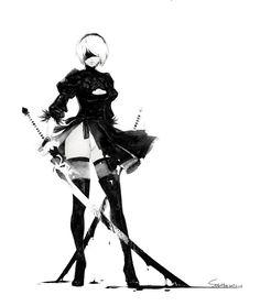 Anime Art Girl, Manga Art, Anime Manga, Game Character, Character Concept, Character Design, Female Characters, Anime Characters, Drakengard Nier
