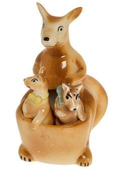 salt and pepper shakers,I have several kangaroo shakers, with one baby, but don't have one with two.