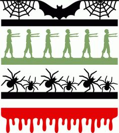 halloween borders set think I'm in love with this shape from the Silhouette Design Store! Halloween Borders, Halloween Silhouettes, Halloween Clipart, Halloween Images, Halloween Items, Halloween Stickers, Halloween Cards, Holidays Halloween, Halloween Stencils
