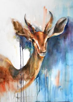 'Safari II' is a watercolour print on paper by Egyptian artist Asmaa Samy. Browse ArtsMart for more of her watercolour and acrylic artworks.