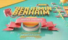 """Check out this @Behance project: """"Curriculum 3D""""…"""