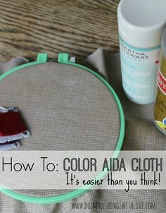 How to add Color to Aida Cloth for Cross Stitching Cross Stitch Charts, Counted Cross Stitch Patterns, Cross Stitch Material, Cross Stitch Fabric, Cross Stitch Embroidery, Cross Stitch Finishing, How To Finish Cross Stitch, Modern Cross Stitch, Cross Stitch Love
