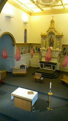 Pentecost liturgical decor