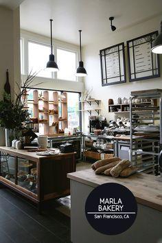 Coffee shop coffee stops bakery interior, bakery kitchen und Bakery Kitchen, Bakery Cafe, Bakery Decor, Bakery Menu, Café Restaurant, Restaurant Design, Shop Interior Design, Home Interior, Bakery Shop Interior