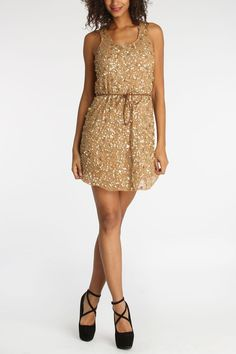 Indi Sequin Dress With Belt