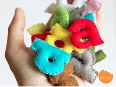 DIY fabric alphabet for the kids.