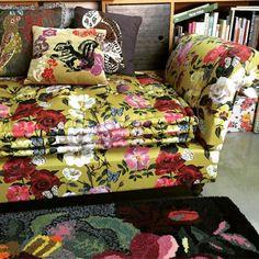 """Sofa with fabric """"villa des roses """" by Thevenon1908"""""""