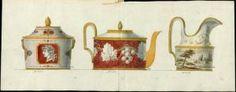 [Modèle de théiere, de crémier et de sucrier] | Centre de documentation des musées - Les Arts Décoratifs