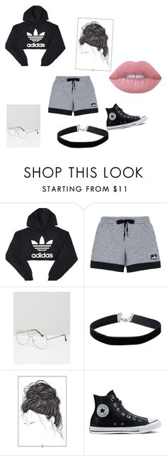 """11-9-16"" by skiara ❤ liked on Polyvore featuring adidas, ASOS, Miss Selfridge, Converse and Lime Crime"