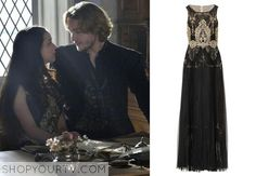 Mary Queen of Scots (Adelaide Kane) wears this embroidered organza and tulle gown in this week's episode of Reign. It is the Notte by Marchesa Embroidered Organza and Tulle Gown. Buy it HERE for $995.
