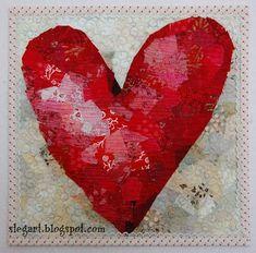 "FREE pattern: ""Valentine Heart Quilt"" (from Terri Stegmiller Art Quilts)"