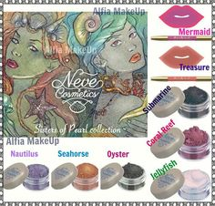 Neve Cosmetics - Sisters of Pearl collection - spring 2016