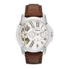 Genuine Fossil Grant Twist Gents Watch in Bangladesh. Online Shopping in Bangladesh for Fossil Original Watch with Home Delivery. Cheap Watches For Men, Fossil Watches For Men, Mens Watches Leather, Leather Men, Skeleton Watches, Brown Leather Watch, Gents Watches, Stainless Steel Case, Shopping