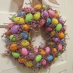 make an easter egg wreath, crafts, easter decorations, seasonal holiday d cor, wreaths, Homemade Easter Egg Wreath