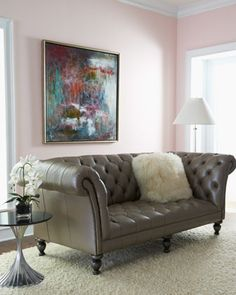 """Old Hickory Tannery """"Ellsworth"""" Tufted Sofa - Neiman Marcus"""