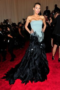 Blake Lively at 2013 MET Gala in Gucci gown