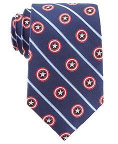 Marvel Tie, Captain America Shield Stripe - Ties - Men - Macy's