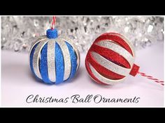 Beautiful DIY Christmas balls or Christmas ornaments made from glitter foam sheets. These are handmade ornaments or Christmas baubles that you can make for C. Diy Christmas Balls, Foam Christmas Ornaments, 3d Christmas, Christmas Ornaments To Make, Handmade Ornaments, Ball Ornaments, How To Make Ornaments, Christmas Tree Decorations, Christmas Ideas