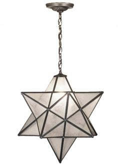 Star Pendant hanging light chandelier for an intricate accent to hang in a child's bedroom.