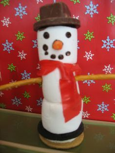 Marshmallow Snowman | This Chick Cooks