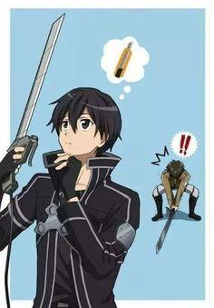 Hahaha Eren and kirito changes their Sword - Sword Art Online vs Shingeki no Kyojin Anime Chibi, Manga Anime, Film Anime, Art Manga, Me Anime, Anime Meme, I Love Anime, Cool Anime Stuff, Otaku Anime
