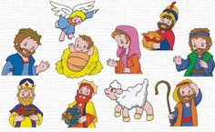 Free Embroidery Designs, Sweet Embroidery    Nativity set    Love this!!