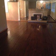 Minwax Dark Walnut on Red Oak Hardwood Floor Stain Colors, Hardwood Floors, Flooring, Red Oak Floors, House, Home Decor, Wood Floor Tiles, Wood Flooring