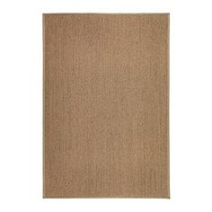 "IKEA - OSTED, Rug, flatwoven, 4 ' 4 ""x6 ' 5 "", , The rug is hard-wearing and durable because it's made of sisal, a natural fiber taken from the agave plant.Polyester edging makes the rug very durable and strong.Looks the same on both sides, so you can turn it over and it will withstand more wear and last longer."