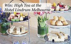 Would like to win and experience high tea for four people at the boutique Hotel Lindrum in Melbourne?  If so enter here: www.highteasociety.com