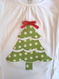 Christmas tree shirt in three sections